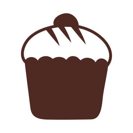 delicious cupcake, line style icon vector illustration design Ilustracja