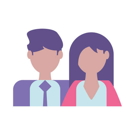 couple of people business, business professional people vector illustration design