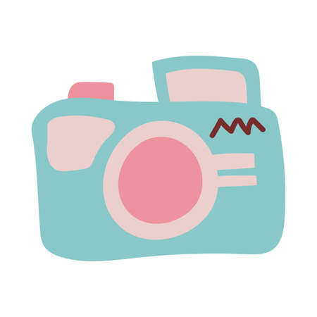 photographic camera on white background vector illustration design