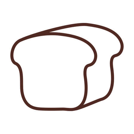 bakery bread, line style icon vector illustration design