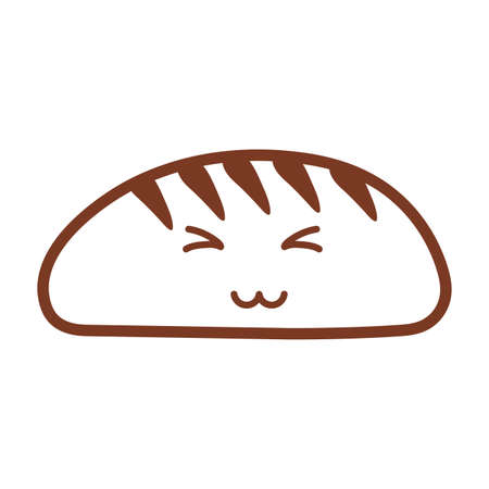 bakery bread , line style icon vector illustration design Ilustracja