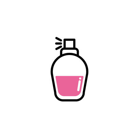 bottle spray, line style and color vector illustration design