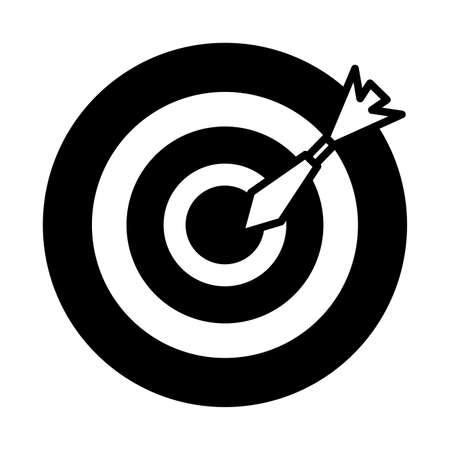 target and arrow on white background vector illustration design Vector Illustration