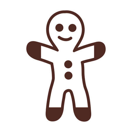 gingerbread man, line style icon vector illustration design Ilustracja