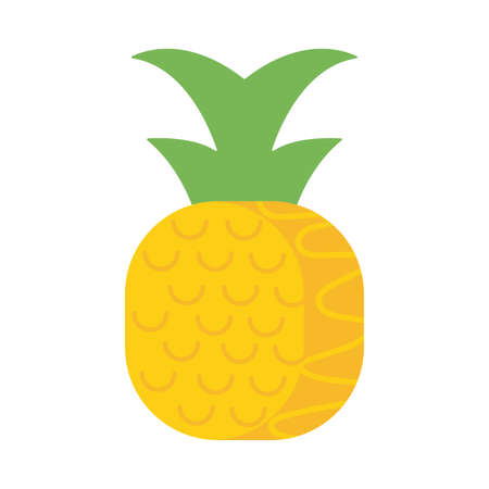 fresh and delicious pineapple on white background vector illustration design