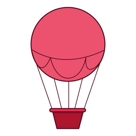 Hot air balloon design of Transportation adventure freedom journey travel up airship and trip theme Vector illustration
