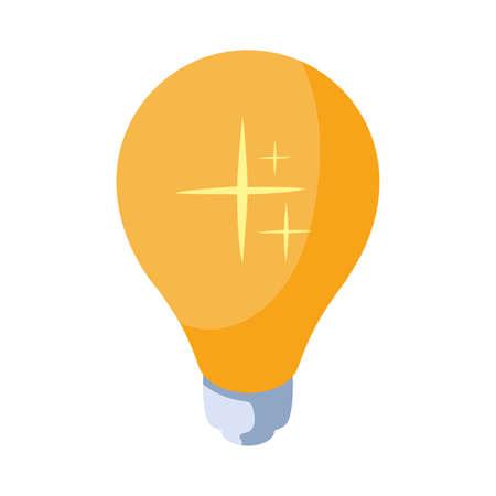 light bulb in white background vector illustration design