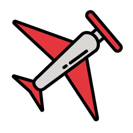 passenger air plane on white background vector illustration design