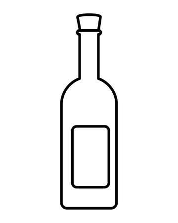 wine bottle on white background vector illustration design
