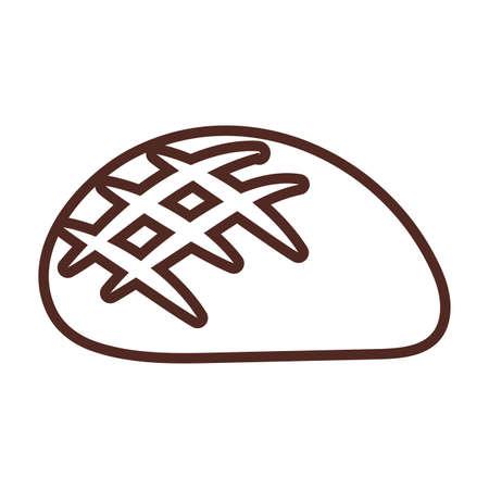 bagel bread, line style icon vector illustration design