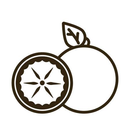 orange on white background, line style icon vector illustration design