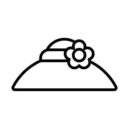 gardening hat , line style icon vector illustration design