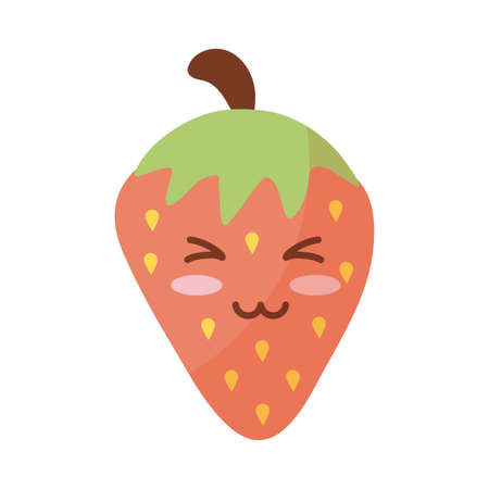 fresh and delicious strawberry on white background vector illustration design