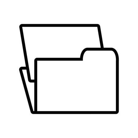 folder with file sheet in white background vector illustration design  イラスト・ベクター素材