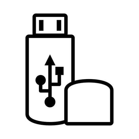 universal flash drive in white background vector illustration design