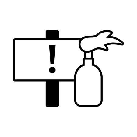 fire bottle, symbol violence on white background vector illustration design