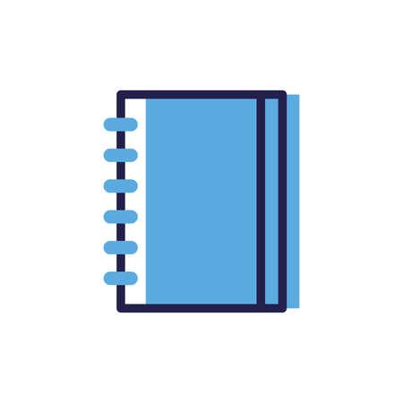 closed book on white background vector illustration design Ilustracja