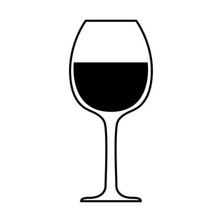 wine glass on white background vector illustration design