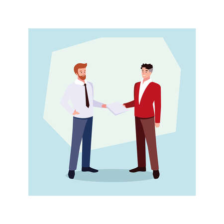 businessmen standing in the office, business professional men vector illustration design
