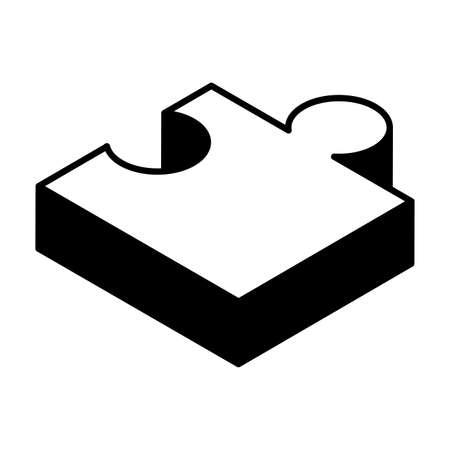 puzzle piece on white background vector illustration design