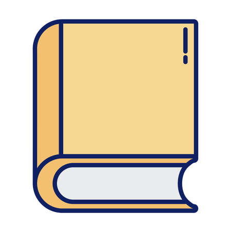 closed book, line and fill style icon vector illustration design