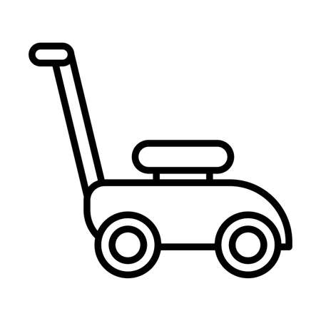 lawn mower , line style icon vector illustration design