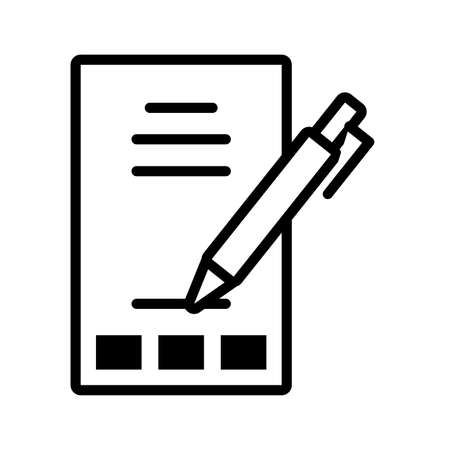 sheet and pen on white background vector illustration design Ilustracja