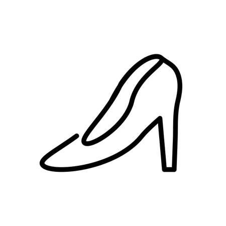 women heel over white background, line style icon, vector illustration Ilustração