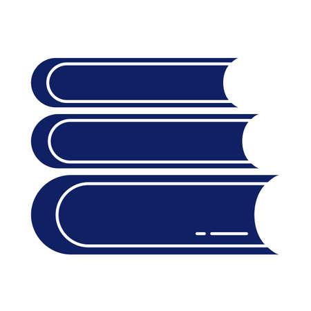 stack of books, silhouette style icon vector illustration design Ilustracja