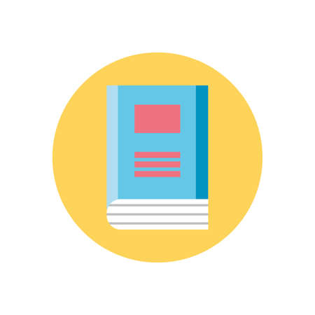 book icon over white background, colorful block style, vector illustration Ilustracja