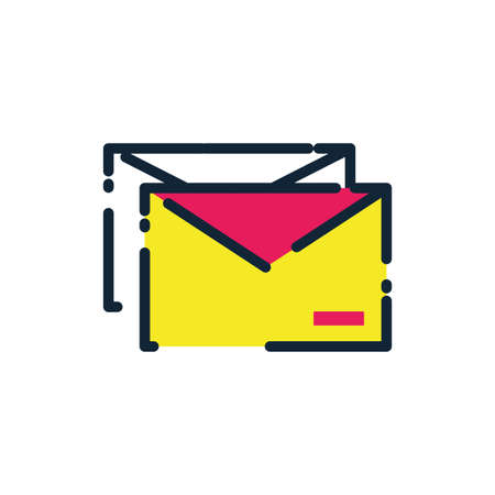 Envelope design, Message email mail letter marketing communication card and document theme Vector illustration