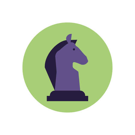 Horse chess piece design, Game strategy competition hobby play knight sport and win theme Vector illustration