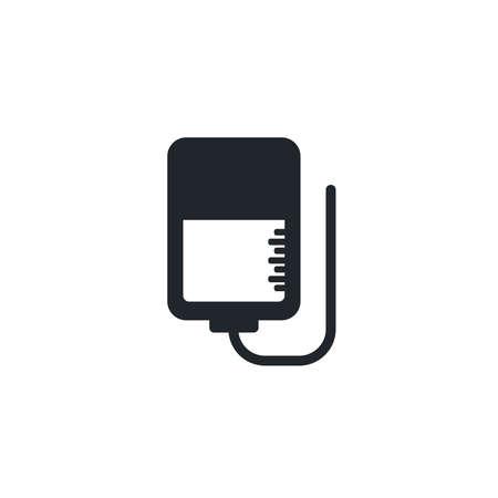 serum bag, silhouette style icon vector illustration design