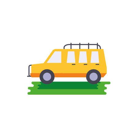 Australian road car design, Travel tourism landmark destination nature vacation south western and holiday theme Vector illustration