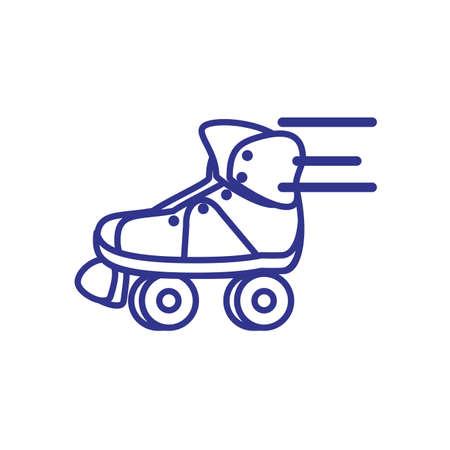 roller skates retro isolated icon vector illustration design