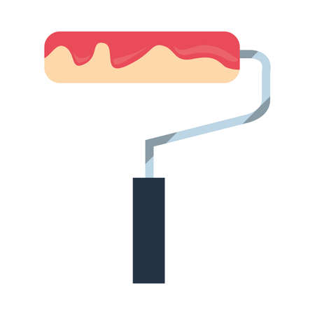 painting roller tool vector illustration design image
