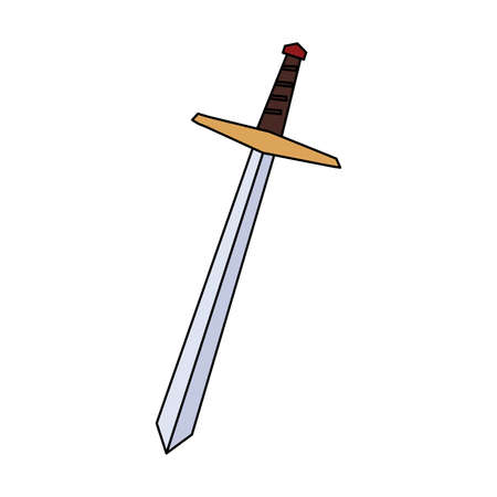 sword long on white background vector illustration design Vektorové ilustrace