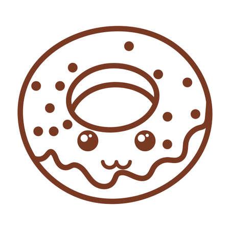 delicious donuts , line style icon vector illustration design Ilustracja