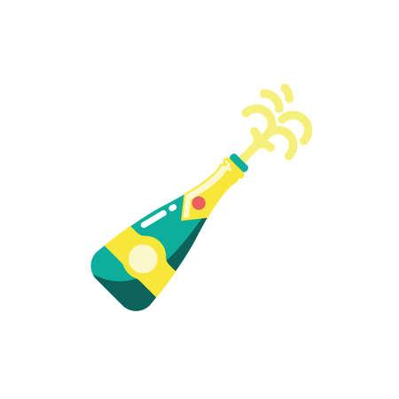 Champagne bottle design, Alcohol drink bar beverage liquid menu surprise restaurant and celebration theme Vector illustration Stock Illustratie