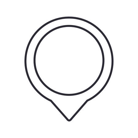 location pin icon over white background, vector illustration Ilustração