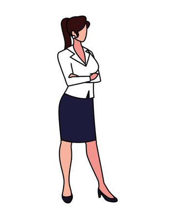 businesswoman standing on white background vector illustration design Vectores