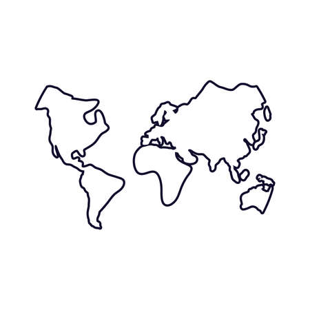 world maps geography icons vector illustration design