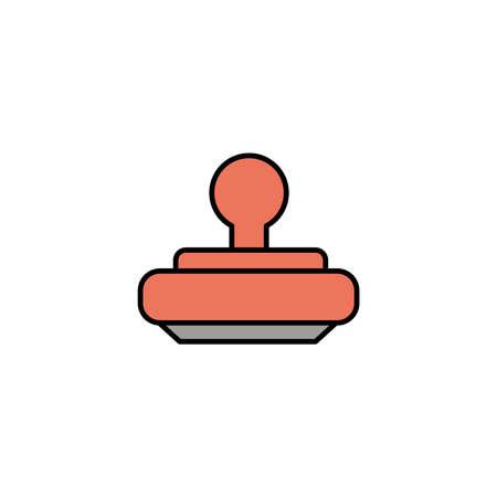 seal rubber, line style icon vector illustration design Çizim
