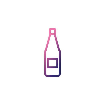 sparkling champagne bottle,gradient style icon vector illustration design