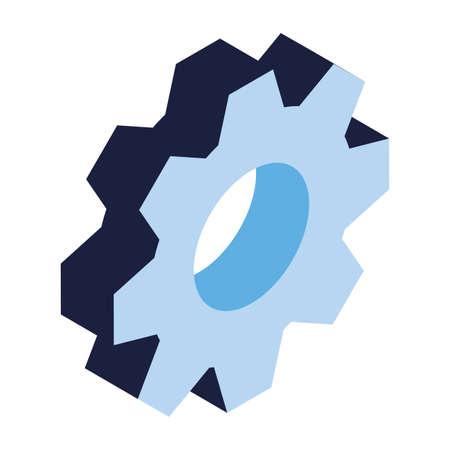 gearwheel tool on white background vector illustration design Ilustracja