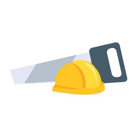 helmet saw tool vector illustration design image
