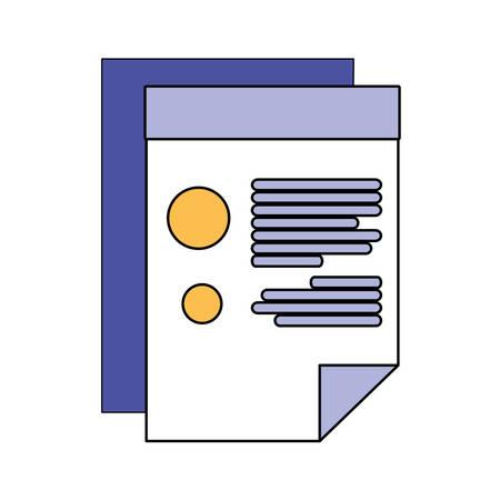 Document design, Data archive storage organize business office and information theme Vector illustration Banco de Imagens - 142956880