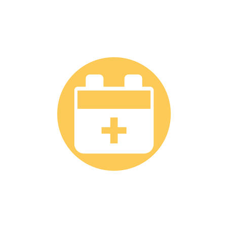 first aid kit medical, block and flat style icon vector illustration design