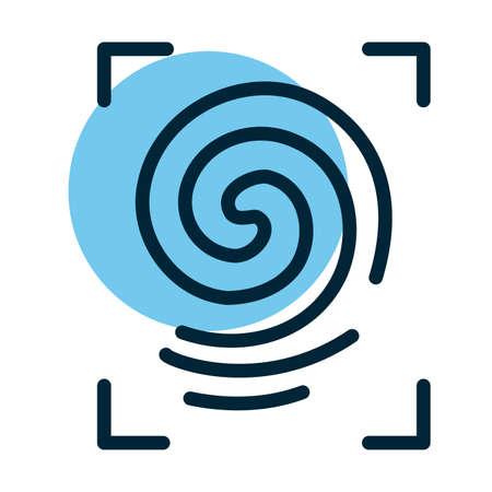 framing fingerprint, line style icon vector illustration design