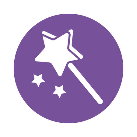 magic wand , silhouette style icon vector illustration design 向量圖像